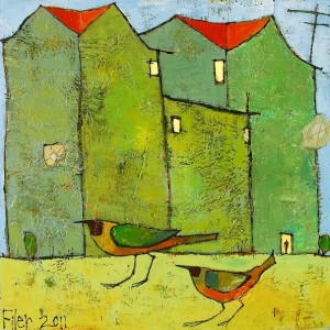 BirdsAtHome 300x300 The Paintings of Jane Filer