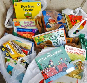 BHBooksInBags 300x289 Book Harvest