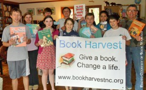 BHVolunteersWithSign 300x185 Book Harvest
