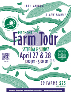 FarmTourBrochure 232x300 18th Annual Piedmont Farm Tour   2013