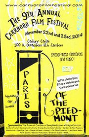 CFFPoster 9th Annual Carrboro Film Festival 2014